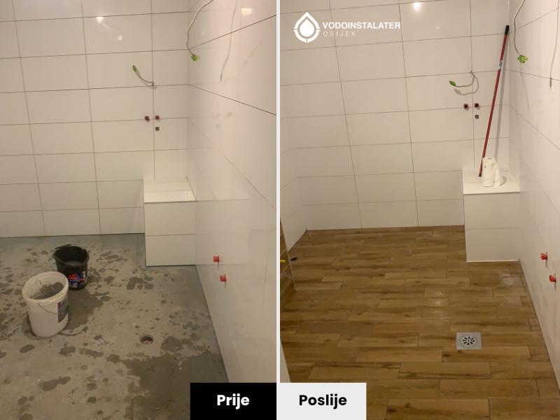prije i poslije - postavljane plocica u kupaonici