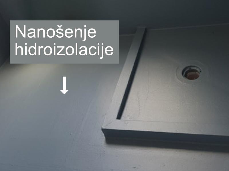 Nanosenje hidroizolacije